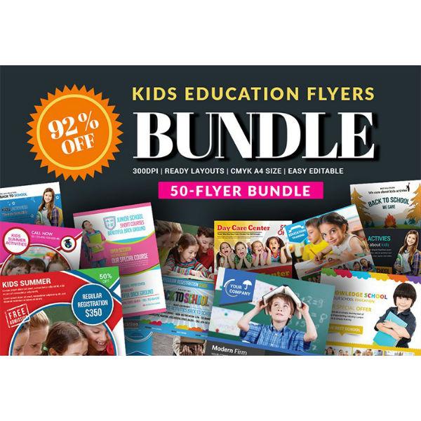 school flyers template bundle1