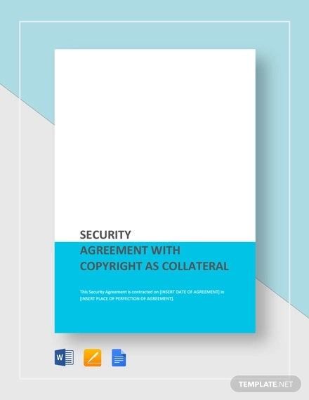 Security Agreement With Copyright As Collateral Template