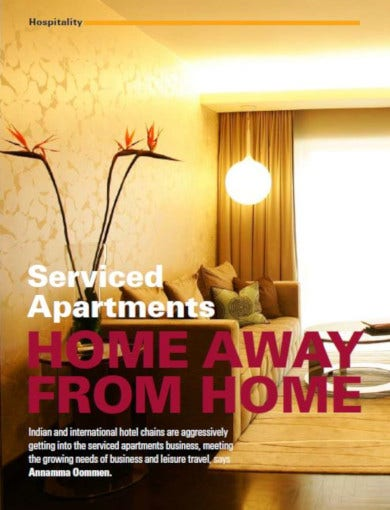 serviced apartments and estate advertising template