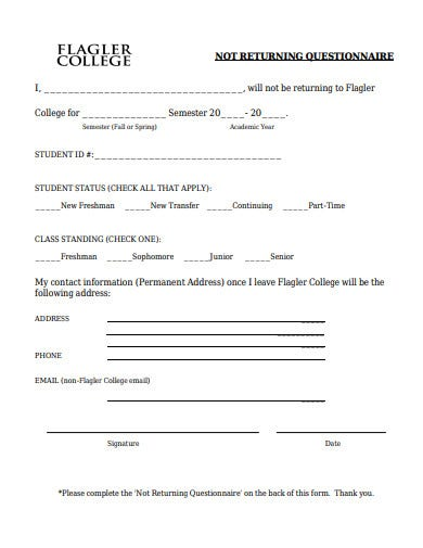simple-college-questionnaire-template
