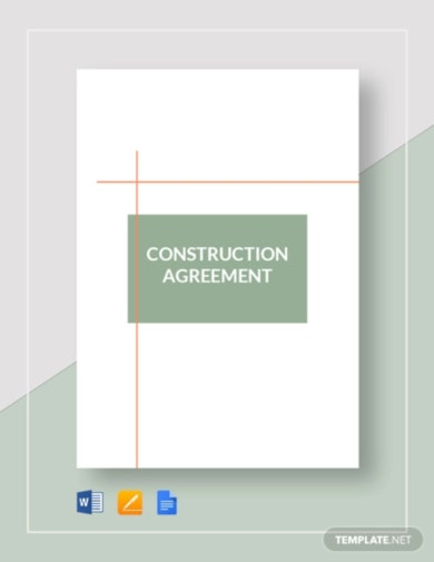 simple construction agreement template