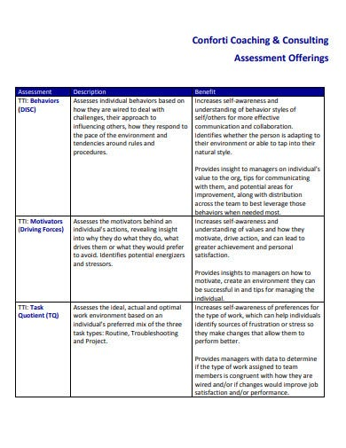 simple consulting assessment template1