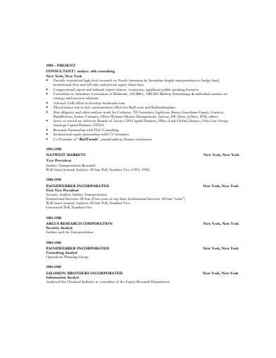 simple consulting resume format