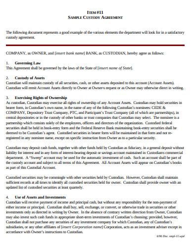simple custody agreement