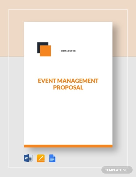 simple event management proposal template