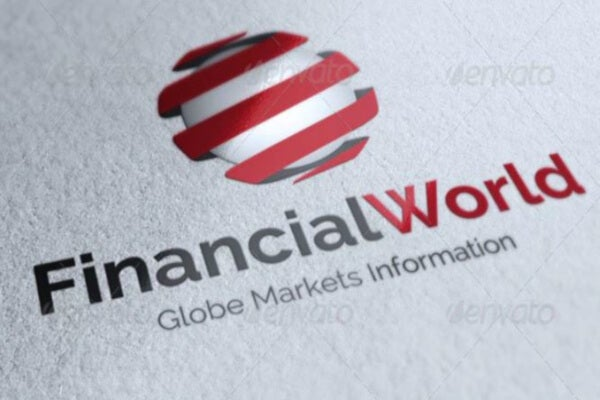 simple financial logo template