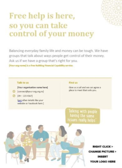 simple financial poster template