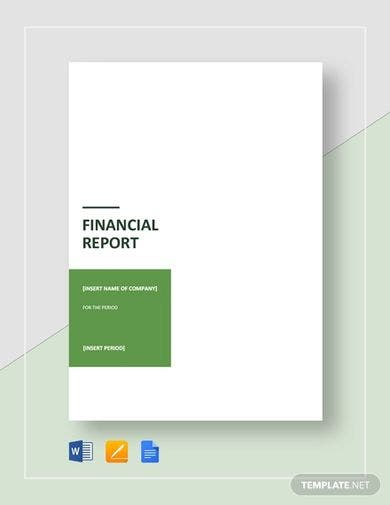 simple financial report template