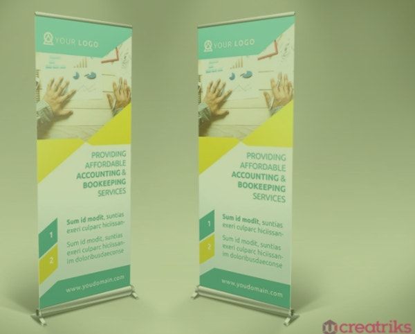 simple financial roll up banner template