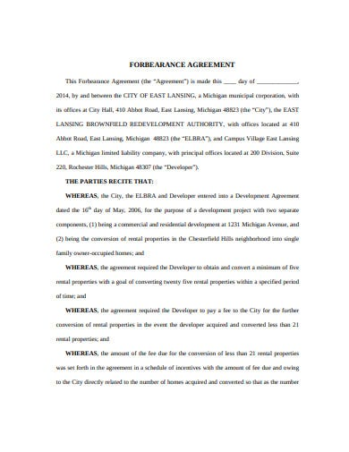15 Forbearance Agreement Templates Google Docs Word