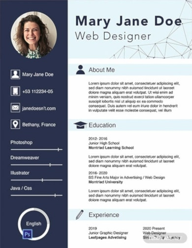 simple fresher cv template