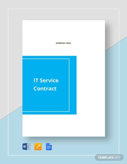 simple it service contract template