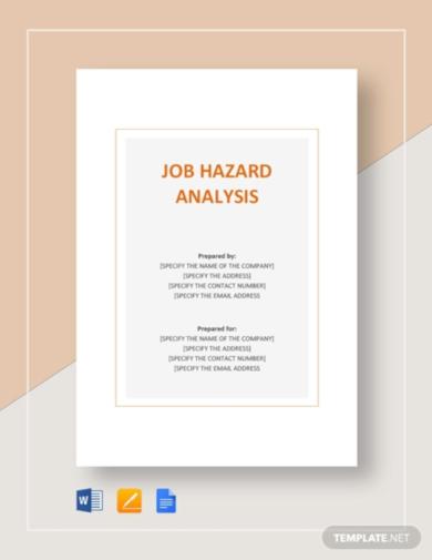 simple job hazard analysis template