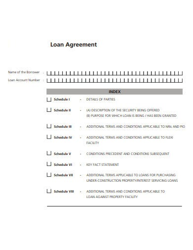 simple loan agreement example