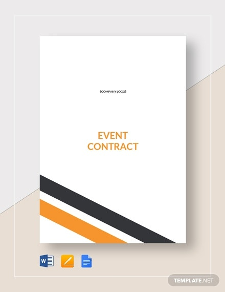 simple organized event contract format