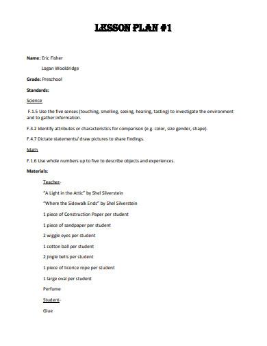 19  preschool lesson plan templates in pdf