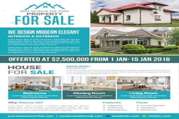 simple property real estate flyer template
