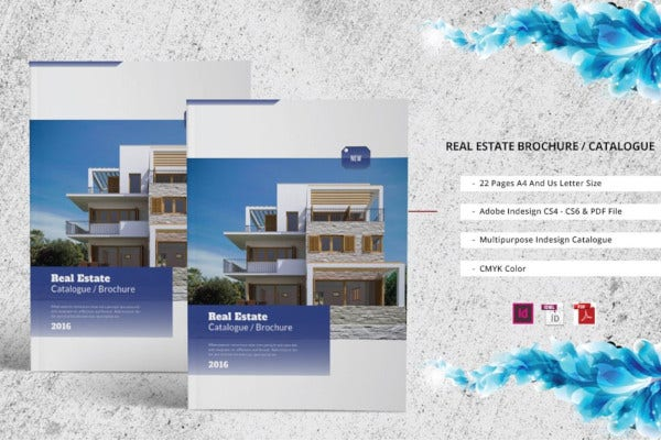 simple real estate catalogue brochure template