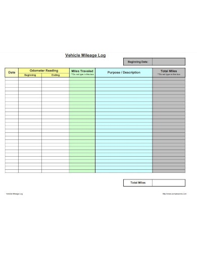 simple travel log sheet template