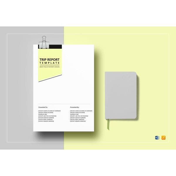 simple trip report template
