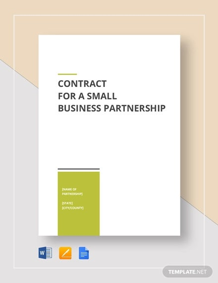 small business partnership contract template
