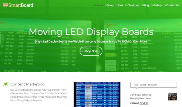 smart board drag and drop option wordpress theme