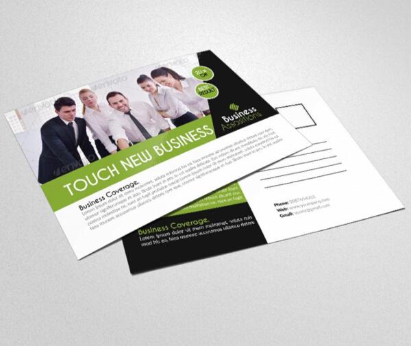 smart financial services postcard template