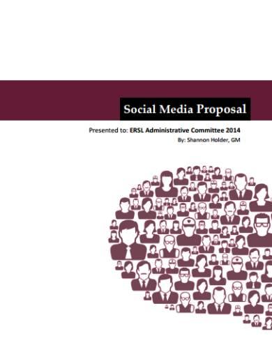 social media proposal sample
