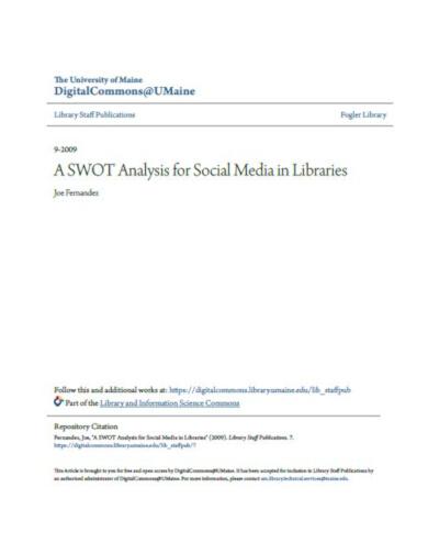 6 social media swot analysis templates pdf free. Black Bedroom Furniture Sets. Home Design Ideas