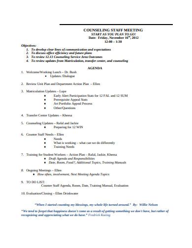 staff meeting agenda in pdf