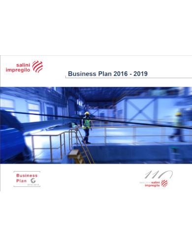 standard business plan for construction