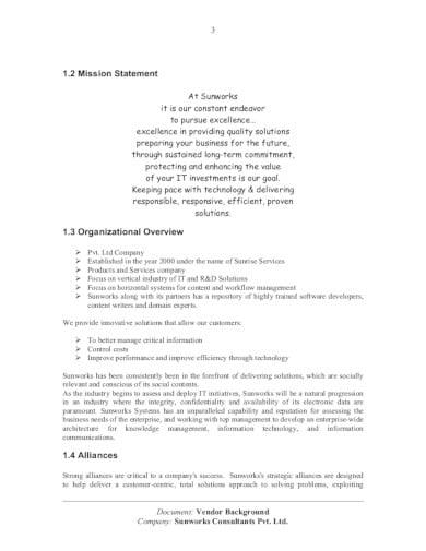standard consulting company profile template