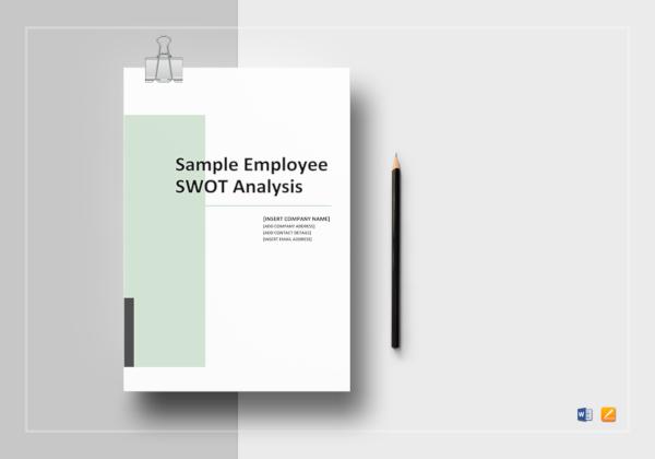 standard employee swot analysis template