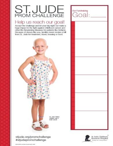 standard fundraiser chart template