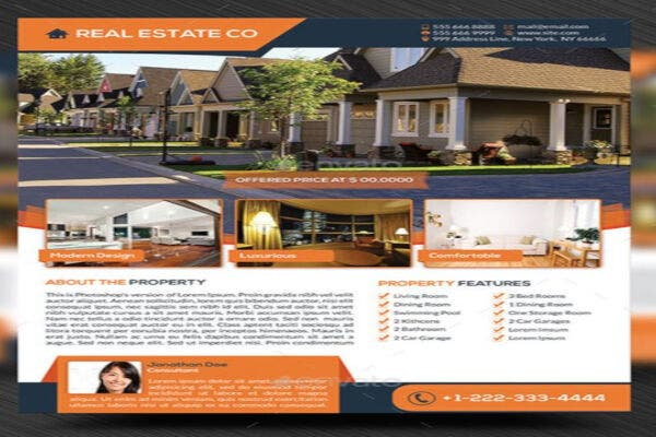 standard real estate marketing flyer template