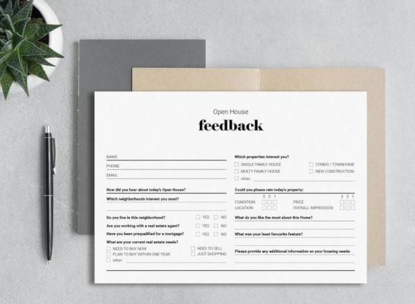 standard real estate survey form