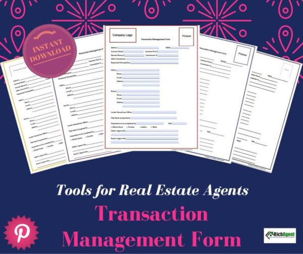 standard real estate transaction form