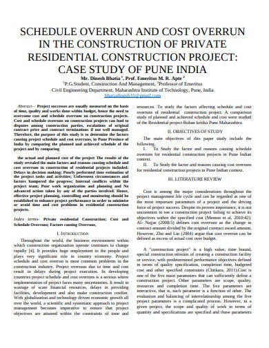 standard residential construction schedule template