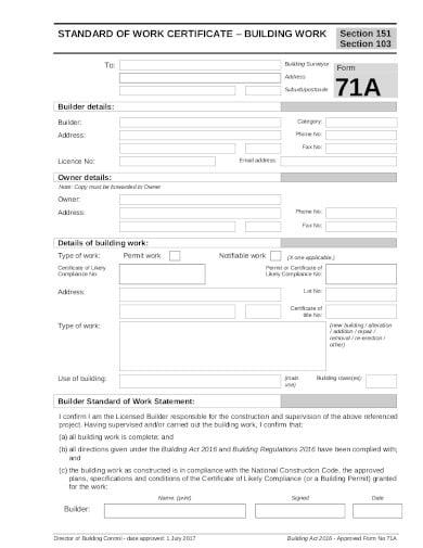 19  work certificate templates