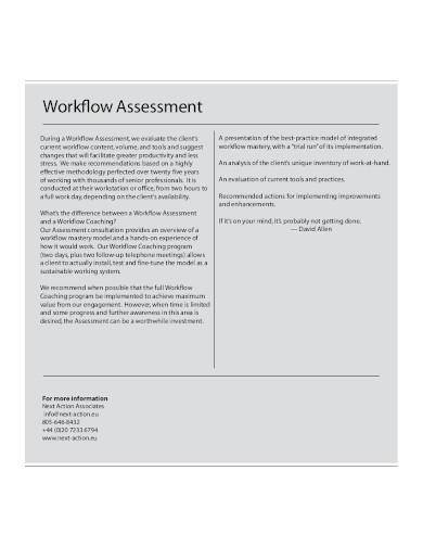 standard workflow assessment template
