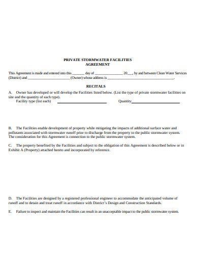 storm maintenance agreement detention