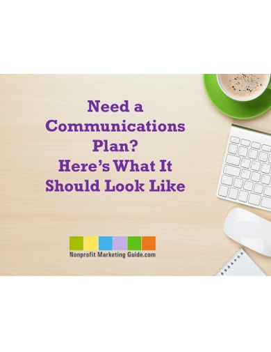 strategic fundraising communication plan sample