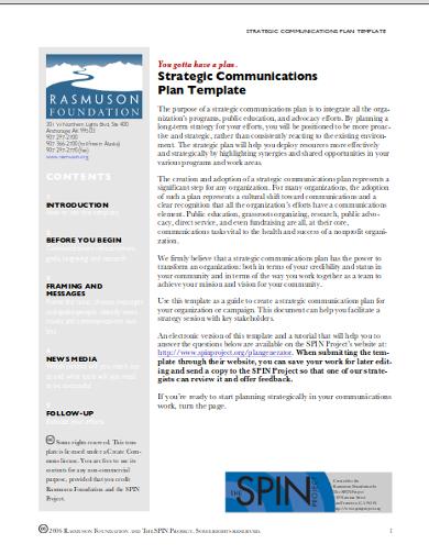 strategic fundraising communication plan