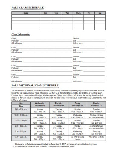 student planner templates example