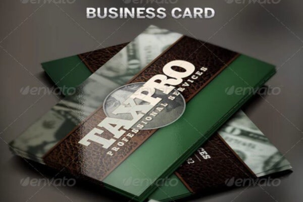 stylish financial business card template