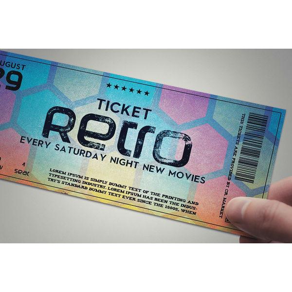stylish retro ticket