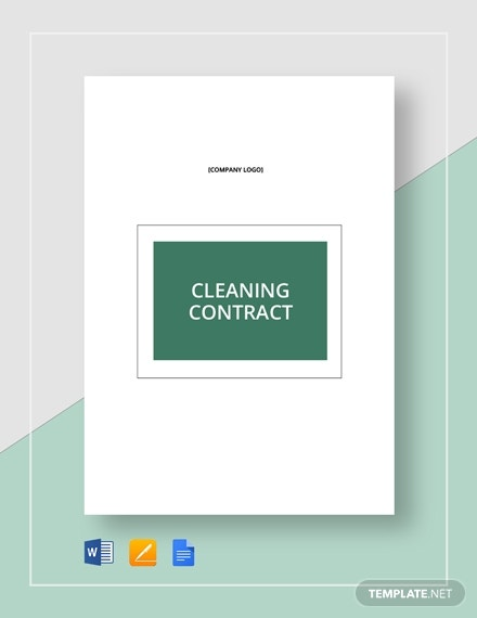 suggestive cleaning business contract template