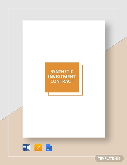synthetic finances investment contract format
