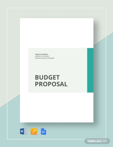 systematic simple budget proposal template