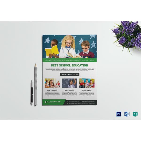 talent education flyer template